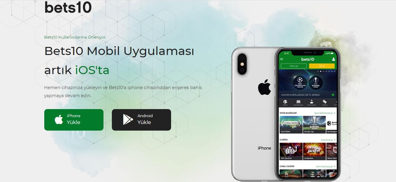Bets10 Mobil Uygulamaları